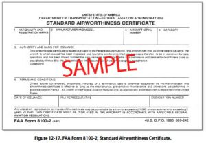 Airworthiness Certificate (C of A)